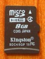 Kingston carte mémoire micro SDHC 8 Go