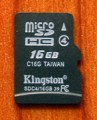 Kingston carte mémoire micro SDHC 16 Go